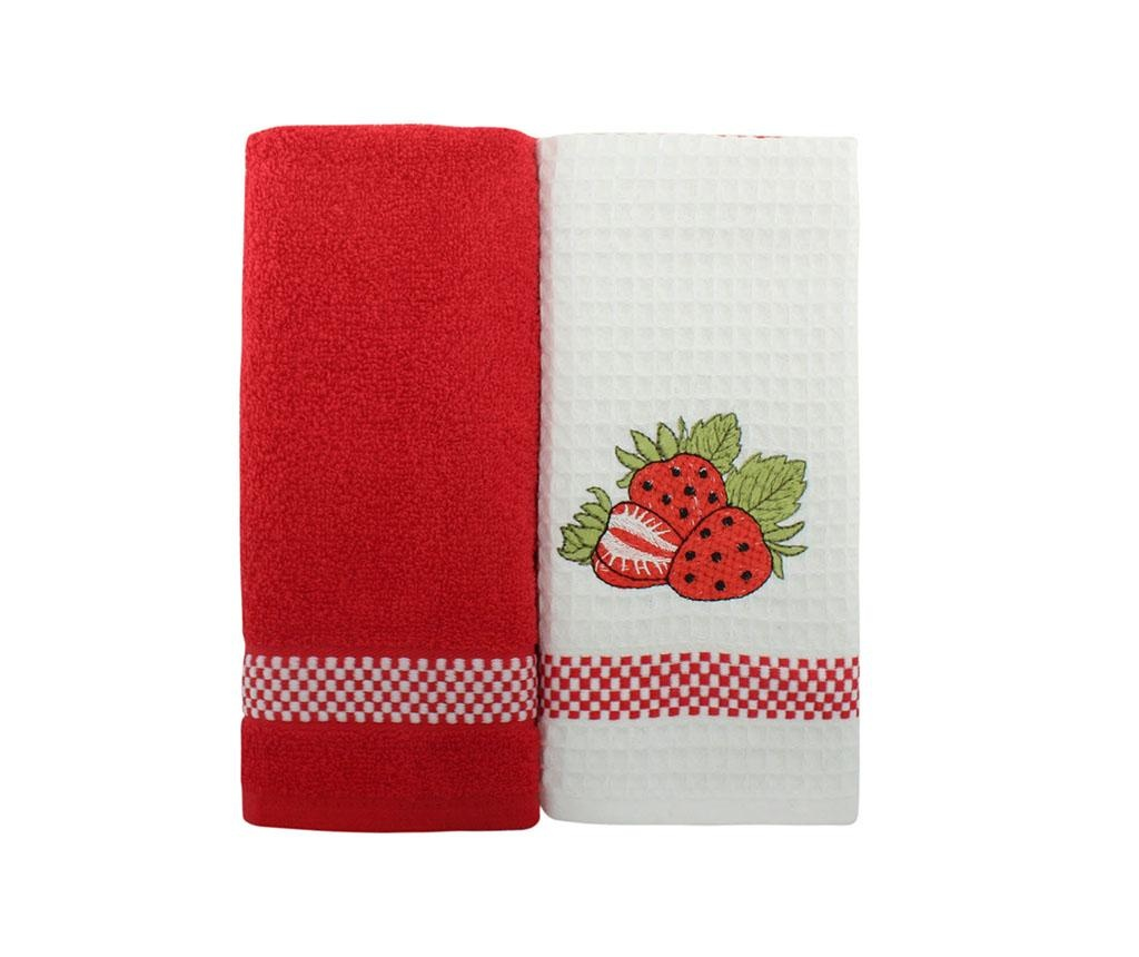 Set 2 prosoape de bucatarie Strawberry 45x70 cm