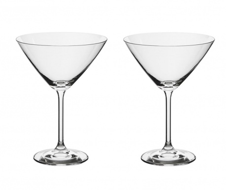 Set 2 kozarcev za martini Bohemia Roya 285 ml