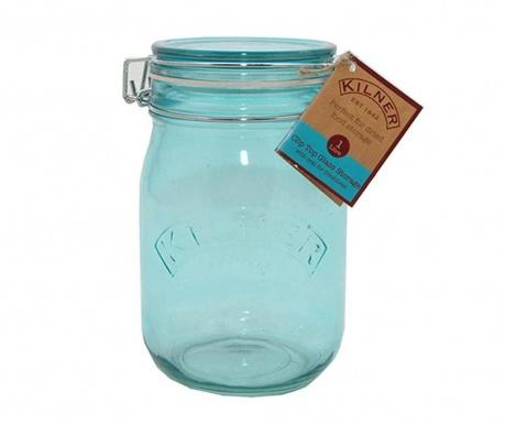 Kilner Clip Round Blue Befőttesüveg hermetikus fedővel 1 L