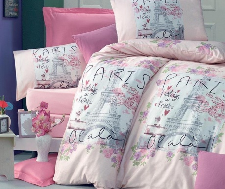 Posteljina King  Ranforce Holiday Pink