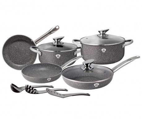 Zestaw naczyń do gotowania 11 części Le Chef Line Grey