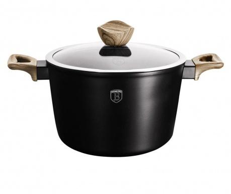 Posuda za kuhanje s poklopcem Ebony Mapple Black Line 6 L