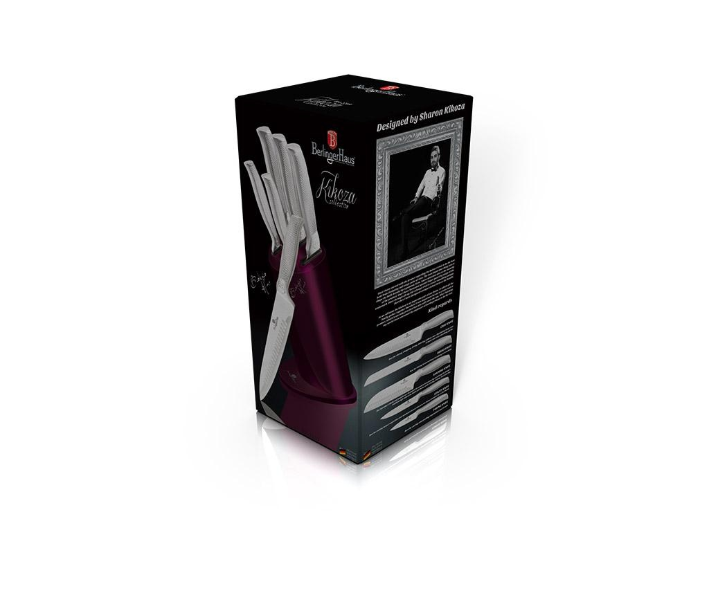 Set 5 cutite si suport Kikoza Collection Purple