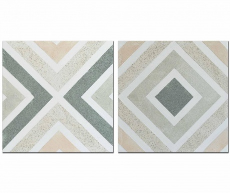Set 2 slike Neutral Geometric 60x60 cm