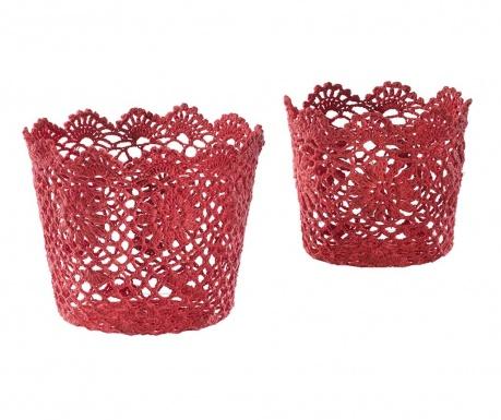 Cherry Crochet 2 db Kosár