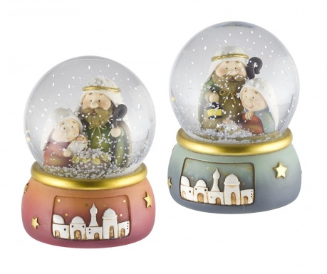 Set 2 decoratiuni Nativity Snowball