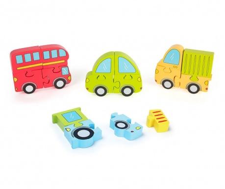 Gra typu puzzle 16 elementów Vehicles