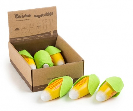 Zestaw 6 zabawkowych warzyw w pudełku Corn