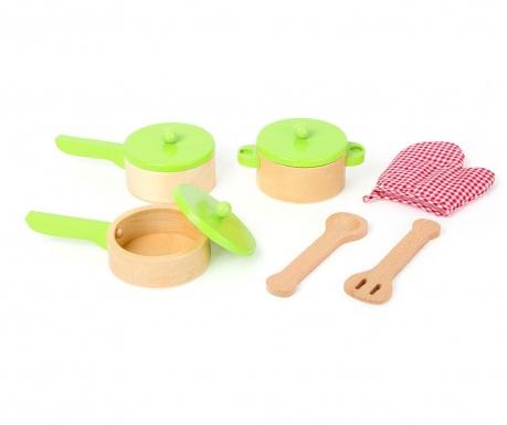 Zabawkowy zestaw do gotowania 9 elementów Kitchens