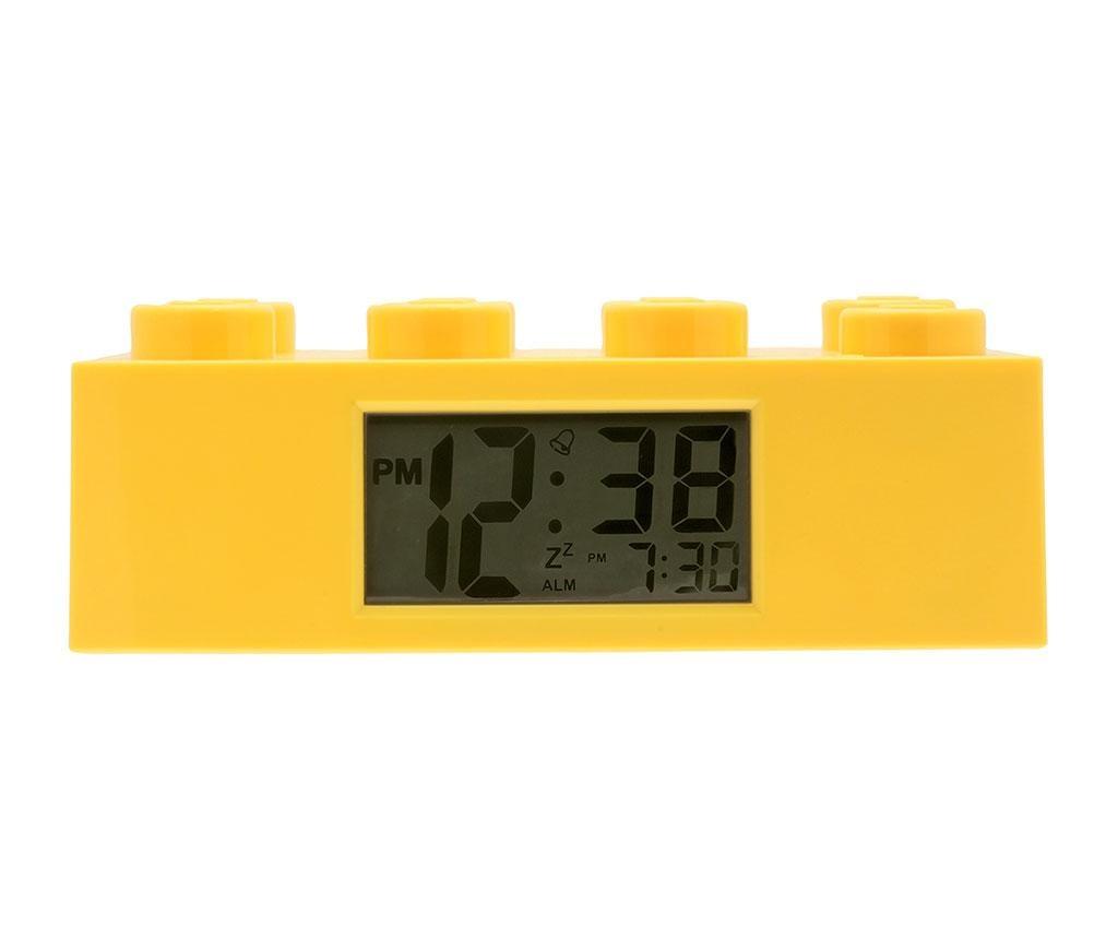 Lego Brick Monden Yellow Ébresztőóra