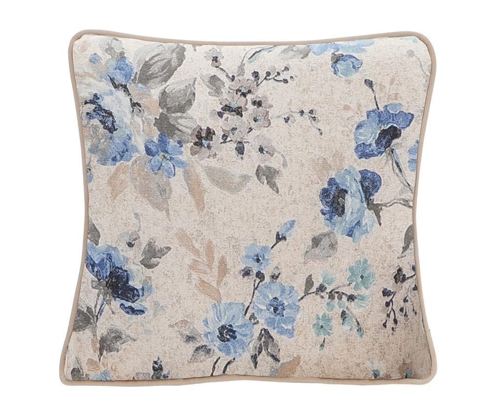 Perna decorativa Blooming Roses Blue 45x45 cm