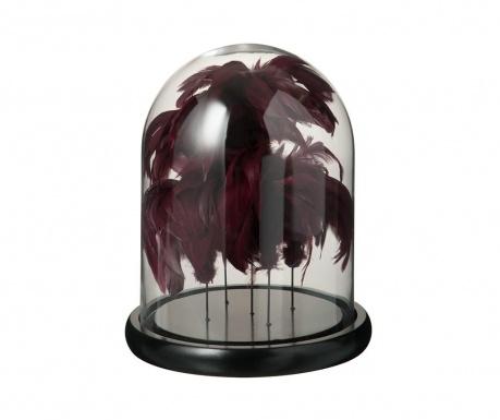 Szklany klosz z podstawką Feathers