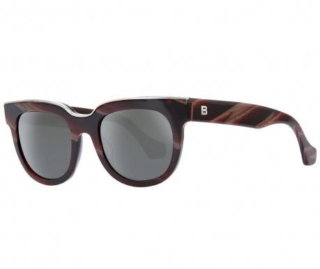 Okulary przeciwsłoneczne damskie Balenciaga Brown Rectangular