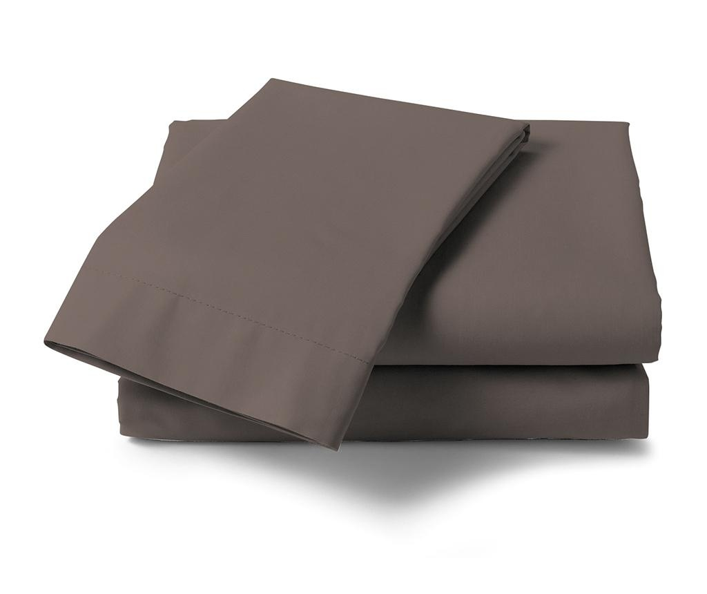 Cearsaf de pat Satin Saty Taupe Grey 270x290 cm