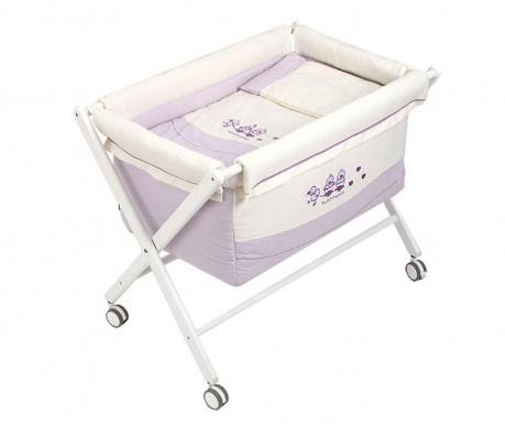Set dječji krevetić sa dodatcima Cuak Lilac