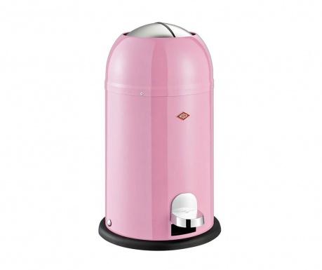 Odpadkový koš s víkem a pedálem Kickmaster Junior Pink 12 L