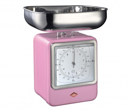 Waga kuchenna z zegarem Zadie Pink
