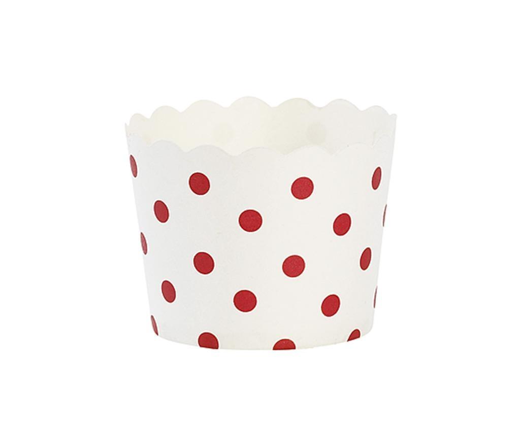 Red Dots 24 db Muffin papír sütőforma