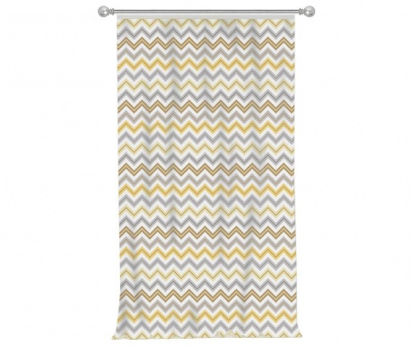 Zasłona Chevron Trio Yellow Grey 140x270 cm