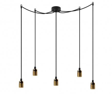 Lustra Long Uno Five Black Brass