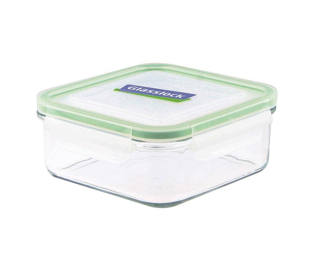Posuda s hermetičkim poklopcem Compact Classic Square Green 900 ml