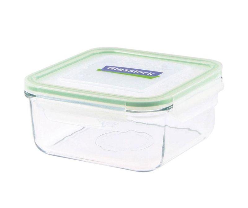 Posuda s hermetičkim poklopcem Compact Classic Square Green 1.2 L
