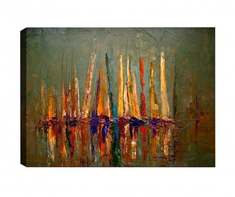 Tablou Boats 70x100 cm