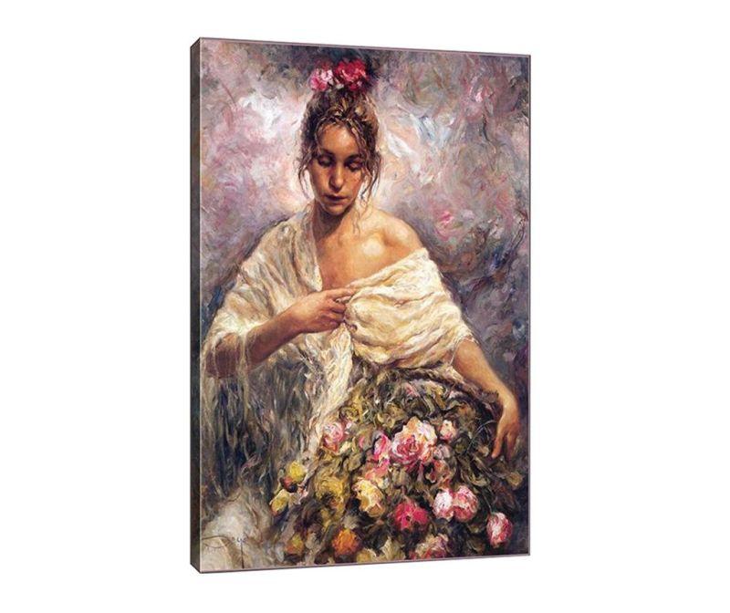 Slika Maria with Flowers 40x60 cm