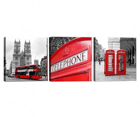 Set 3 tablouri London 30x30 cm