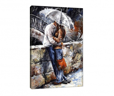 Kissing in the Rain Kép 50x70  cm