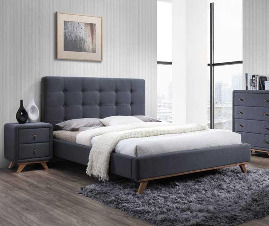 Krevet Lisa Grey 160x200 cm