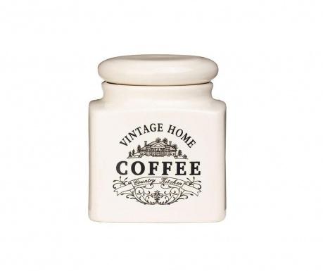 Recipient cu capac pentru cafea Vintage Home Cream S
