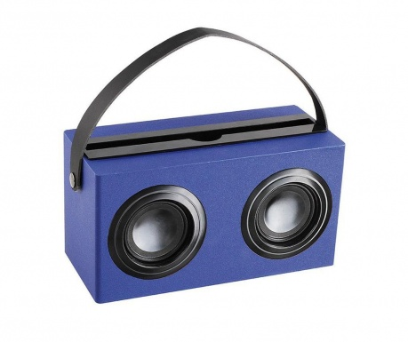 Boxa portabila Old Radio Blue