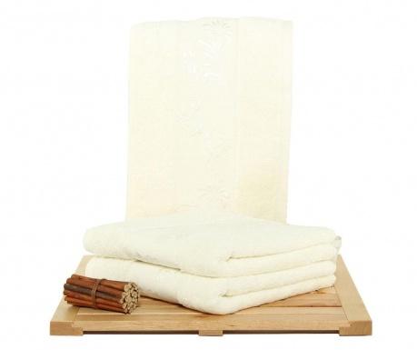 Set 3 prosoape de baie Supima Cream 50x90 cm