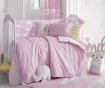 Lenjerie de patut Ranforce Clouds Pink