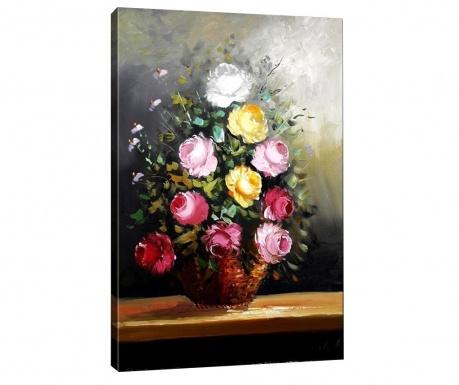Obraz Roses in Basket 40x60  cm