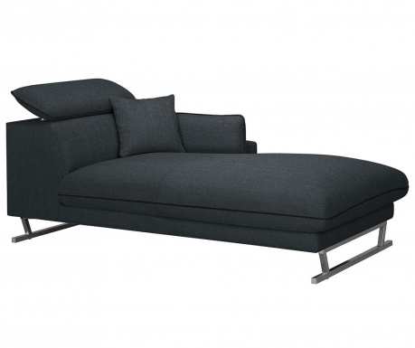 Sezlong living dreapta Giselle Anthracite Black