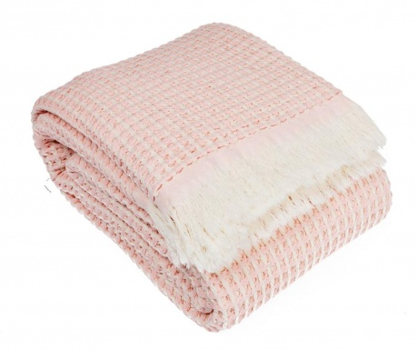 Waffle Pink Pléd 130x180 cm