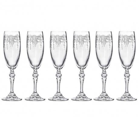 Set 6 čaša za šampanjac Catherine 170 ml