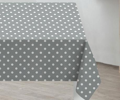 Stolnjak Grey Polka Dots 132x178 cm