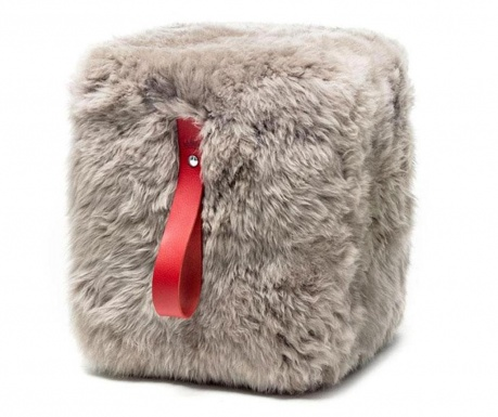 Табуретка Fluffy Cube Beige Red