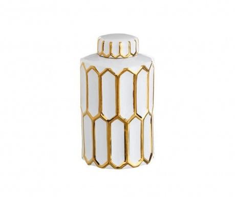 Naczynie dekoracyjne z pokrywką Golden Stripes