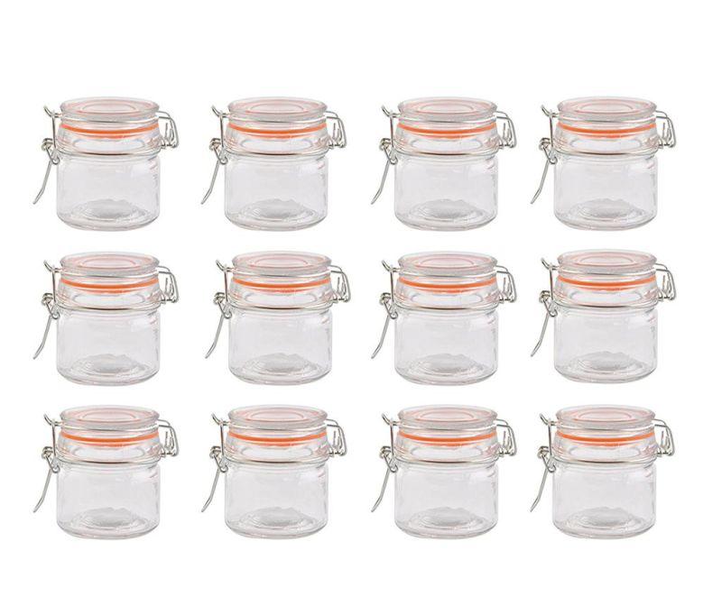 Set 12 borcane cu capac ermetic Indie Small 90 ml
