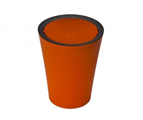 Flip Round Black Orange Szemetes kosár fedővel 2 L