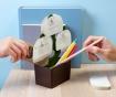 Set držač uredskog pribora, magneti i papirići Bonsai