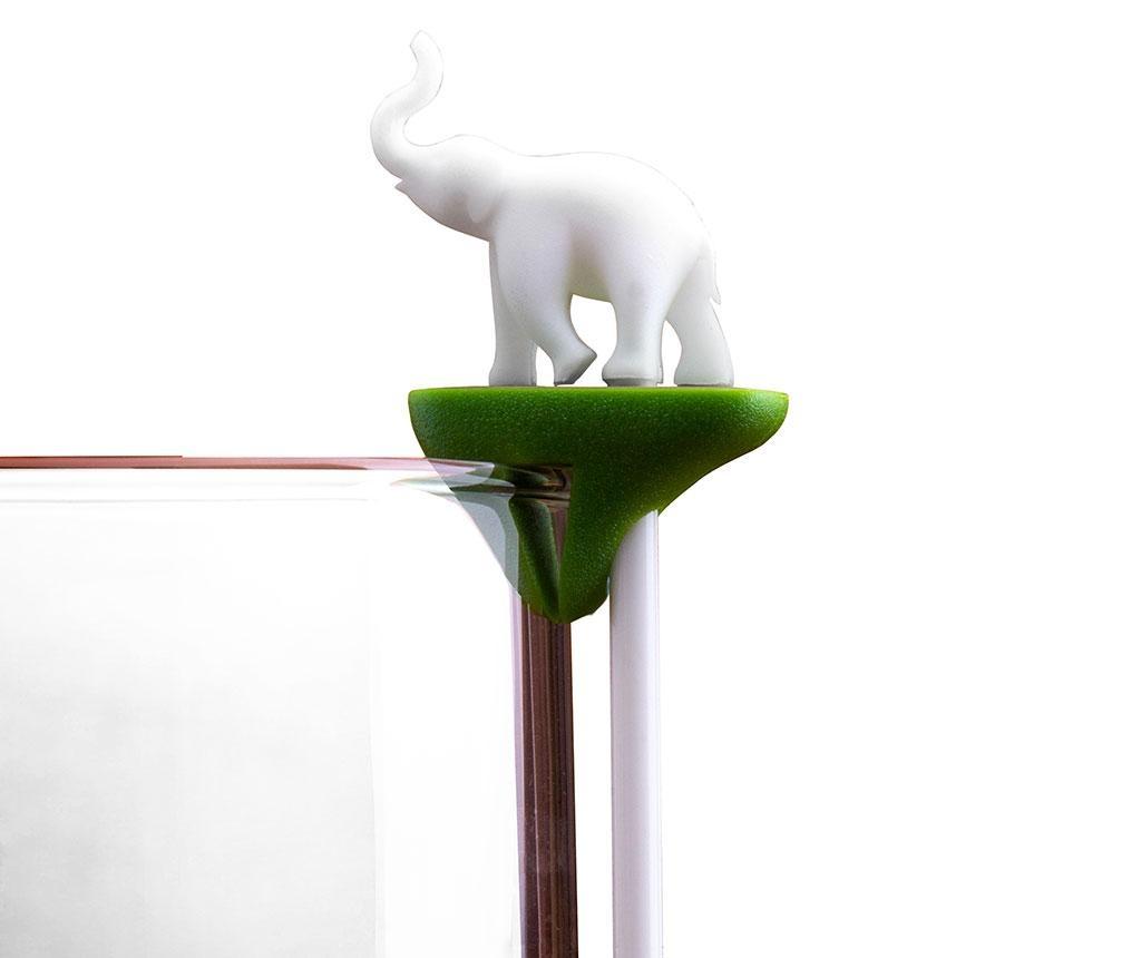 Hot Animal 6 db Pohárjelölő  előételes pálcikával