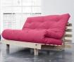 Sofa extensibila Roots Natural and Magenta 140x200 cm