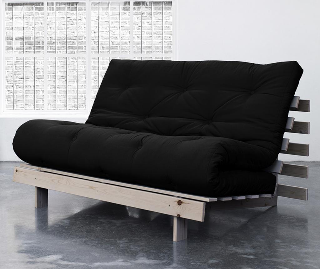 Sofa extensibila Roots Wide Natural and Black