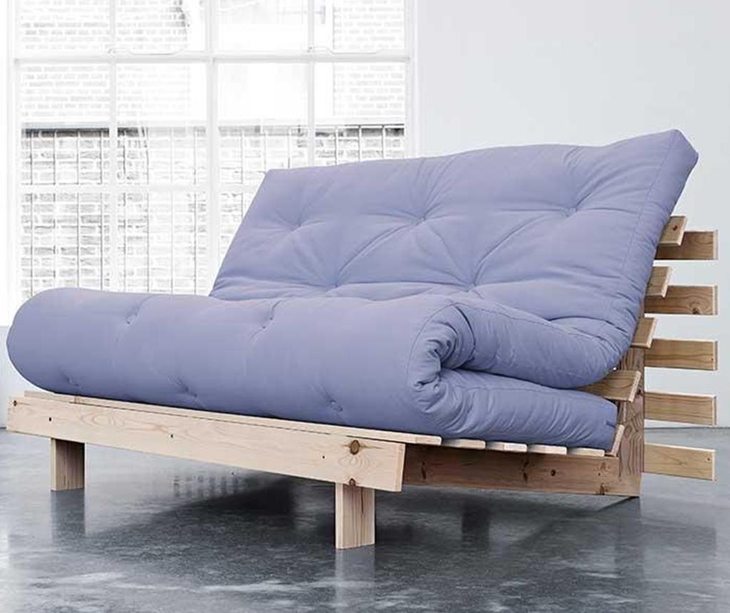 Sofa extensibila Roots Natural and Blue Breeze 140x200 cm