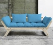 Sofa extensibila Bebop Natural and Horizon Blue